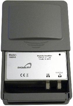 Antennförstärkare UHF 25db 5-12Volt