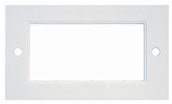 Dubbelram för 4 moduler vit rak kant