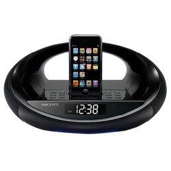 Klockradio med docka för Ipod/Iphone