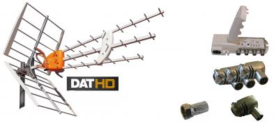 Televés DAT-HD 45 16+20db Förstä.paket 220V UHF LTE