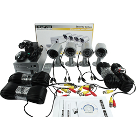 Paket 4-kanal inspelare med 4 kameror, komplett.