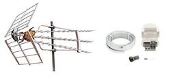 Antennpaket Stockholm Turbo + 20m Kabel