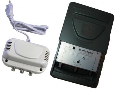 Antennförstärkare UHF / VHF kombi + nätdel