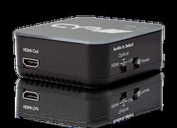 Ljudinmatare för att mata in analogt eller digitalt ljud i HDMI