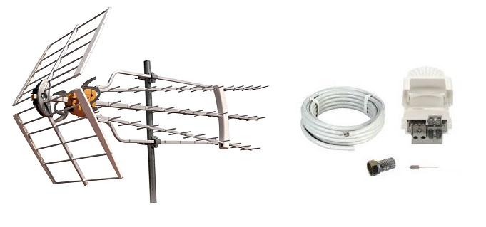 Televés Antennpaket Norrland Turbo + 20m Kabel