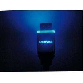 HDMI 1.3 med blått LED-ljus 1,5m