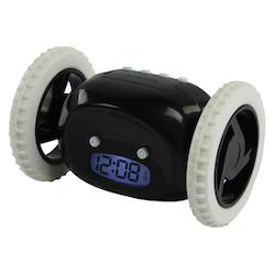 Väckarklocka med hjul SVART