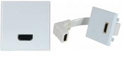 Vägguttag HDMI med adapter hona