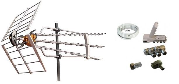 Televés Antennpaket Norrland Super Turbo + 20m Kabel