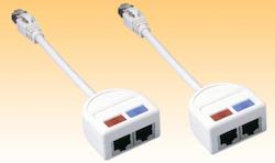 Y-kabel nätverk 10/100 MB 2-pack