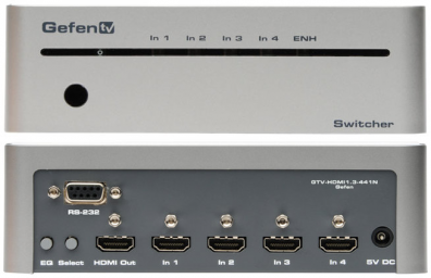 GefenTV 4x1 Switcher for HDMI with RS232