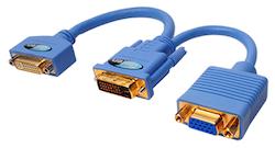 DVI-I till DVI-D and VGA Adapter