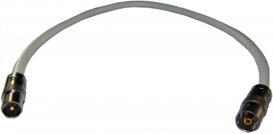 Antennkabel Super PRO 0,5m bästa kabel VIT