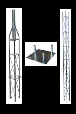 Fackverksmast paket, Serie 180 4m (bultning)