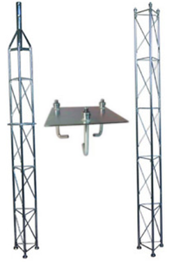 Fackverksmast paket, Serie 250 5m (gjutning)