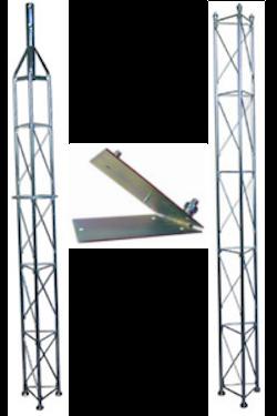 Fackverksmast paket, Serie 250 5m (fällbar)
