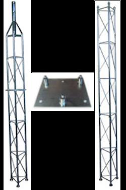 Fackverksmast paket, Serie 250 5m (bultning)