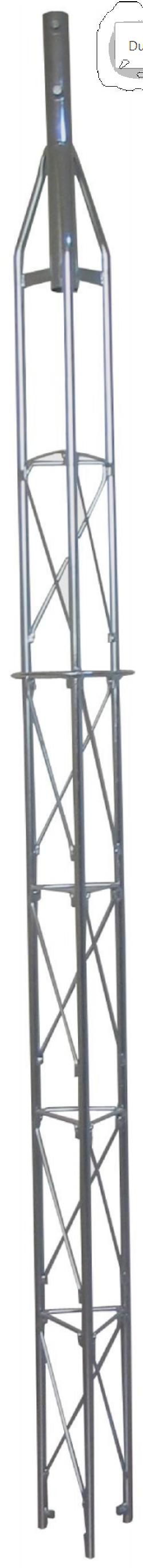Fackverksmast top 180 serie 2,5m