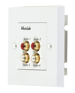 Muxlab Quad Audio Wall Plate Balun