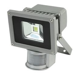 10 W 9 LED-projektorlampa med PIR-sensor