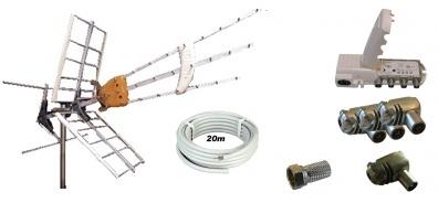 Antennpaket Norrköping/Kisa Large + 20m LTE
