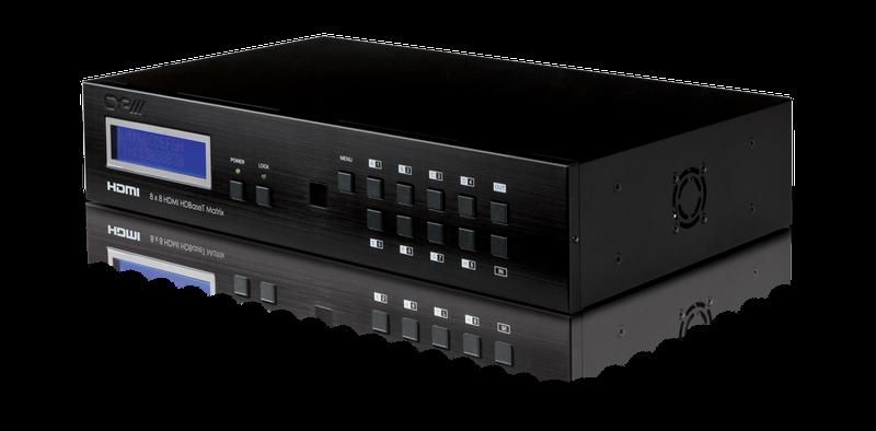 8x8 HDMI / Full HDBaseT Matrix LAN, 4K, IR, RS232, PoE
