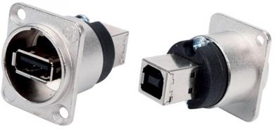 Panelkontakt USB A hona-USB B hane