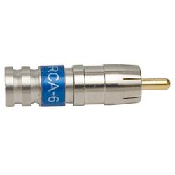 RCA-kontakt hane COMPR. RG-6, PCTRCA6 10-pack