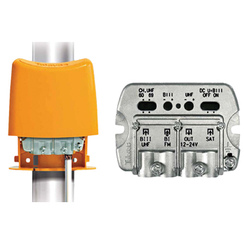 Televés NanoKom 3 in kombi (DC-pass) / FM / SAT LTE