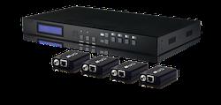 4x4 HDMI till HDBaseT Lite KIT Matris med 4 mott.