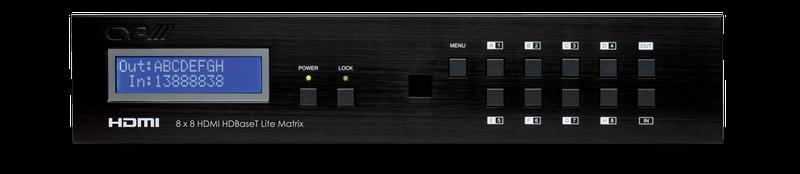 CYP/// 8:8 HDMI till HDBaseT Lite KIT Matris + 8 mott.