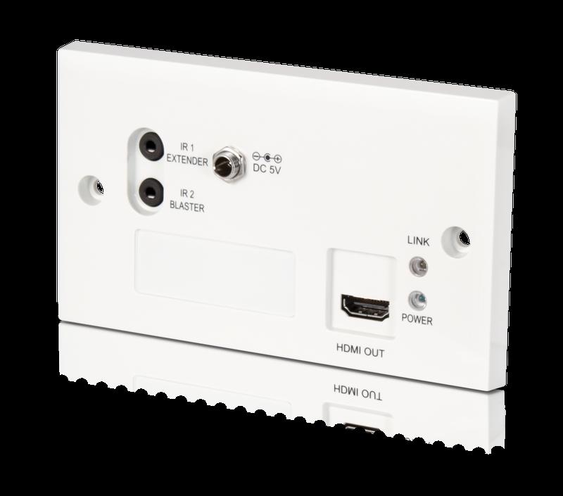 HDMI Wallplate mottagare över Singel Cat