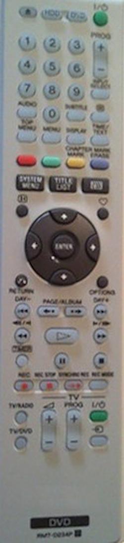 Fjärrkontroll RMT-D234P
