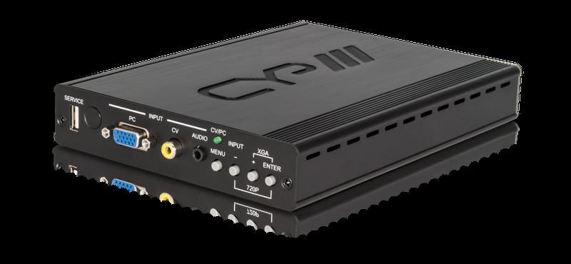 CYP/// CV/PC över HDBaseT med scaler
