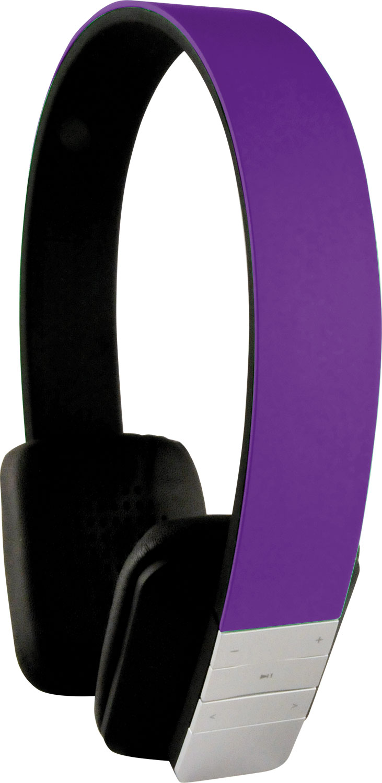 Schwaiger KH200 BTV Bluetooth hörlur GRYMT LJUD LILA