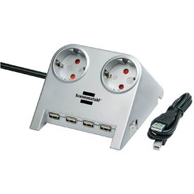 Grenuttag för bordsplacering med USB-Hub