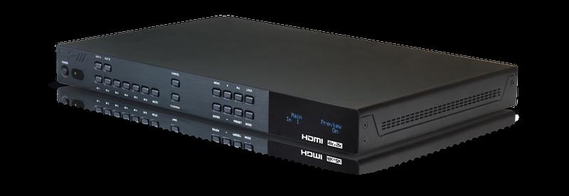 CYP/// 6x2 UHD HDMI switch med separat ljud.