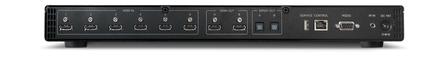 CYP/// 6x2 UHD HDMI switch med separat ljud.