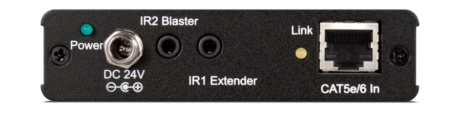 CYP/// HDMI mottagare över singel kabel med 4K, Bi-di PoE, RS232, IR