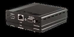 HDMI sändare över singel kabel med 4K, Bi-di PoE, IR, RS232