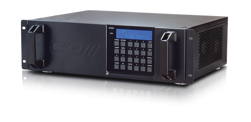 8 x 16 VGA till HDBaseT Matris, RS232, IR, 100 meter
