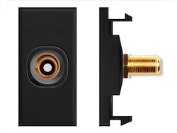 Modul RCA till F-kontakt diskret svart