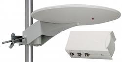 Triax Båt/ Marin / Camping Antenn med LTE skydd + 12V / 240V  Nätdel UFO150 + IFP224
