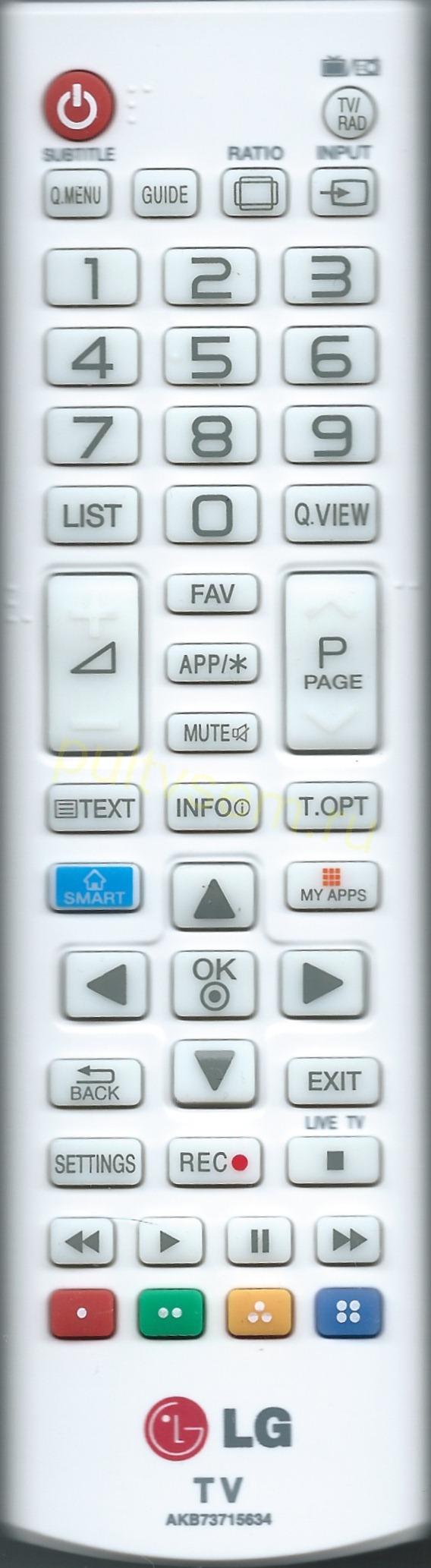 Fjärrkontroll AKB73715634