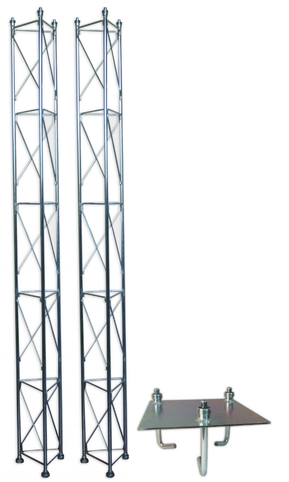 Fackverksmast, paket, belysning, Serie 250 5m (gjutning)