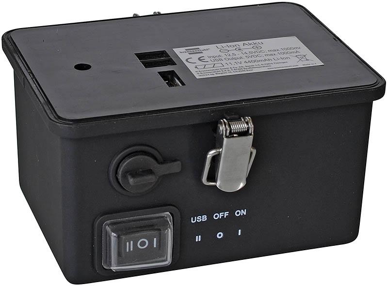 Laddbart batteri till LED-strålkastare 11,1 V 4400mAh