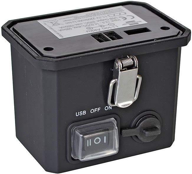 Laddbart batteri till LED-strålkastare 11,1 V 2200mAh