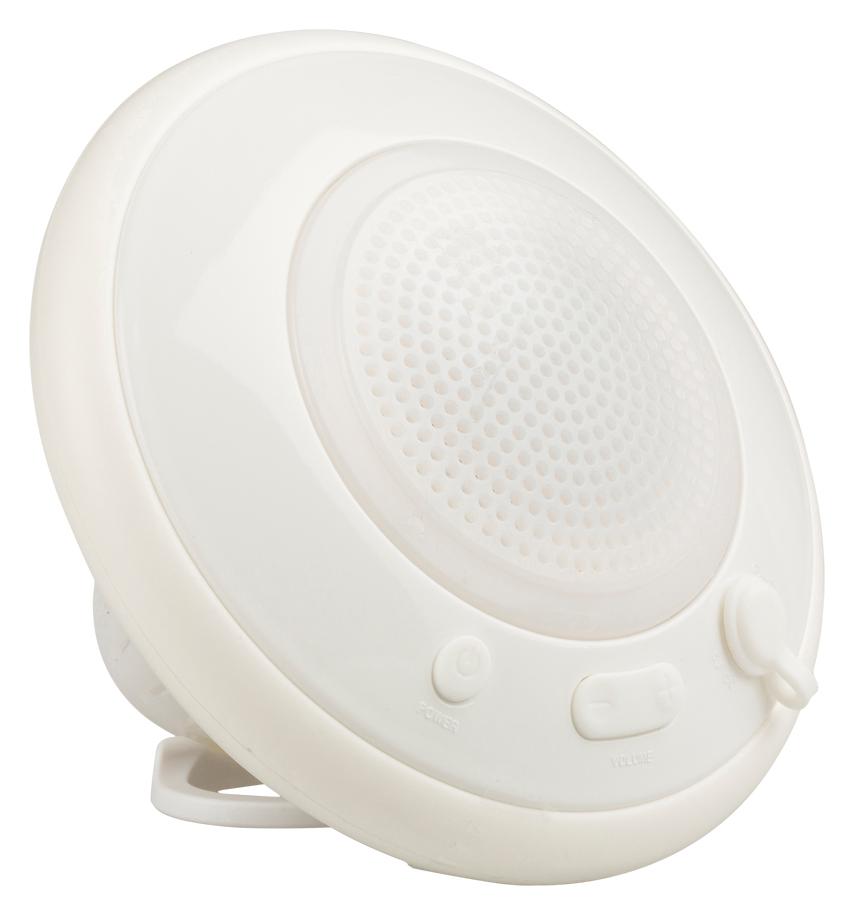 Vattentät, flytande bluetooth-högtalare VIT