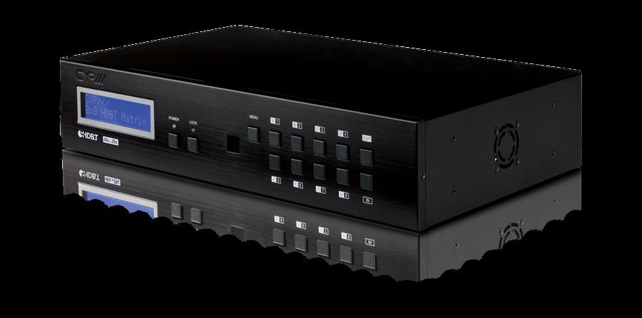 8x8 HDMI Matrix med 4K, LAN, RS232, Bi-dir IR, 100m