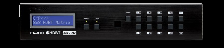 8:8 HDMI till HDBaseT Lite Matris med PoE & 4K upplösning